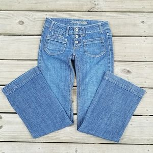 American Eagle button-front jeans size 0 r